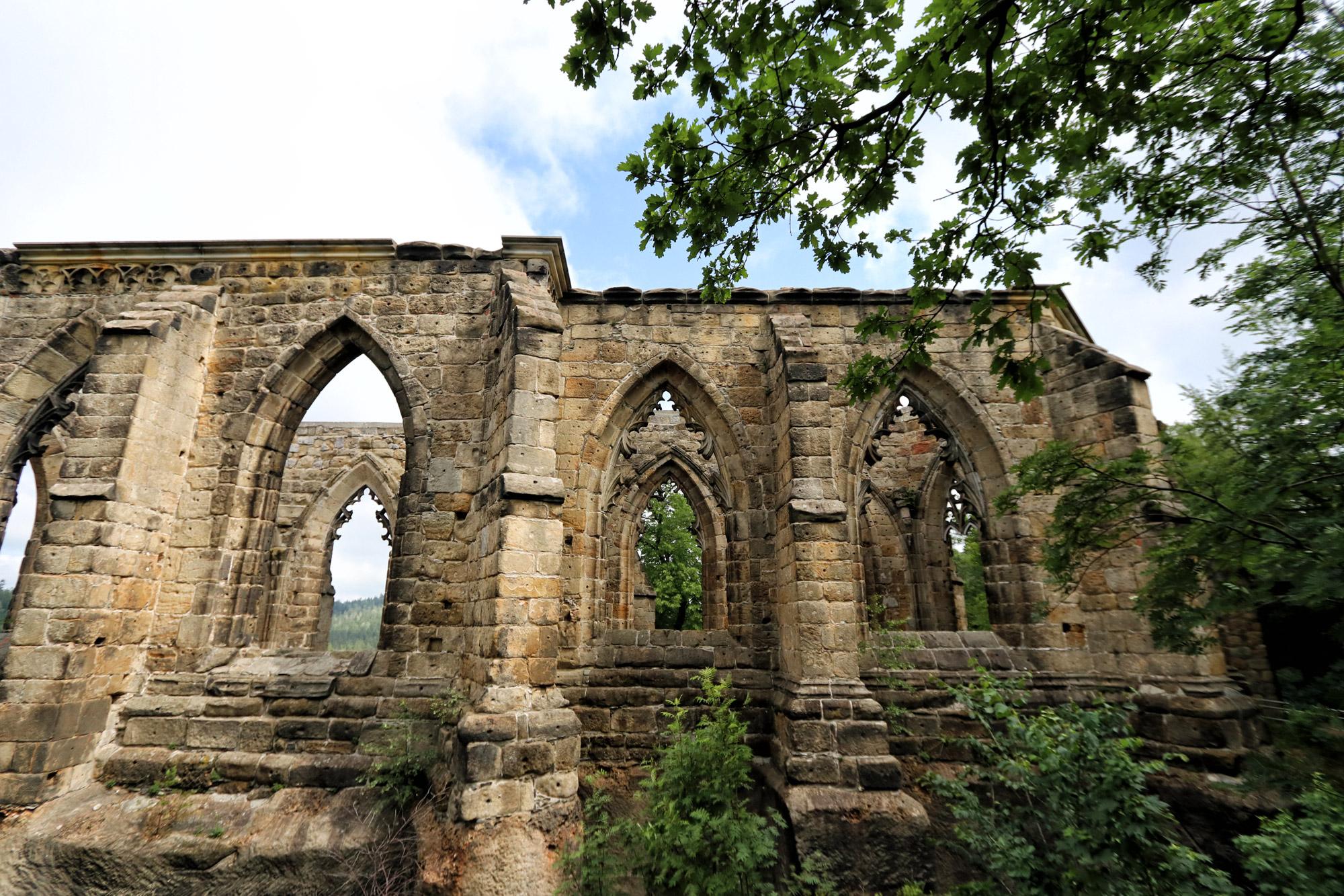Burcht- en kloosterruïne van Oybin